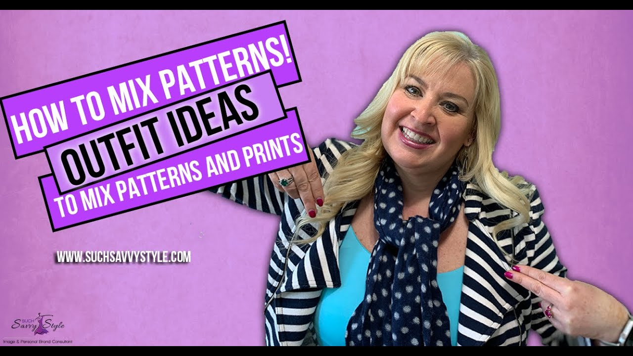 How to Mix Patterns! Outfit ideas to mix patterns and prints.